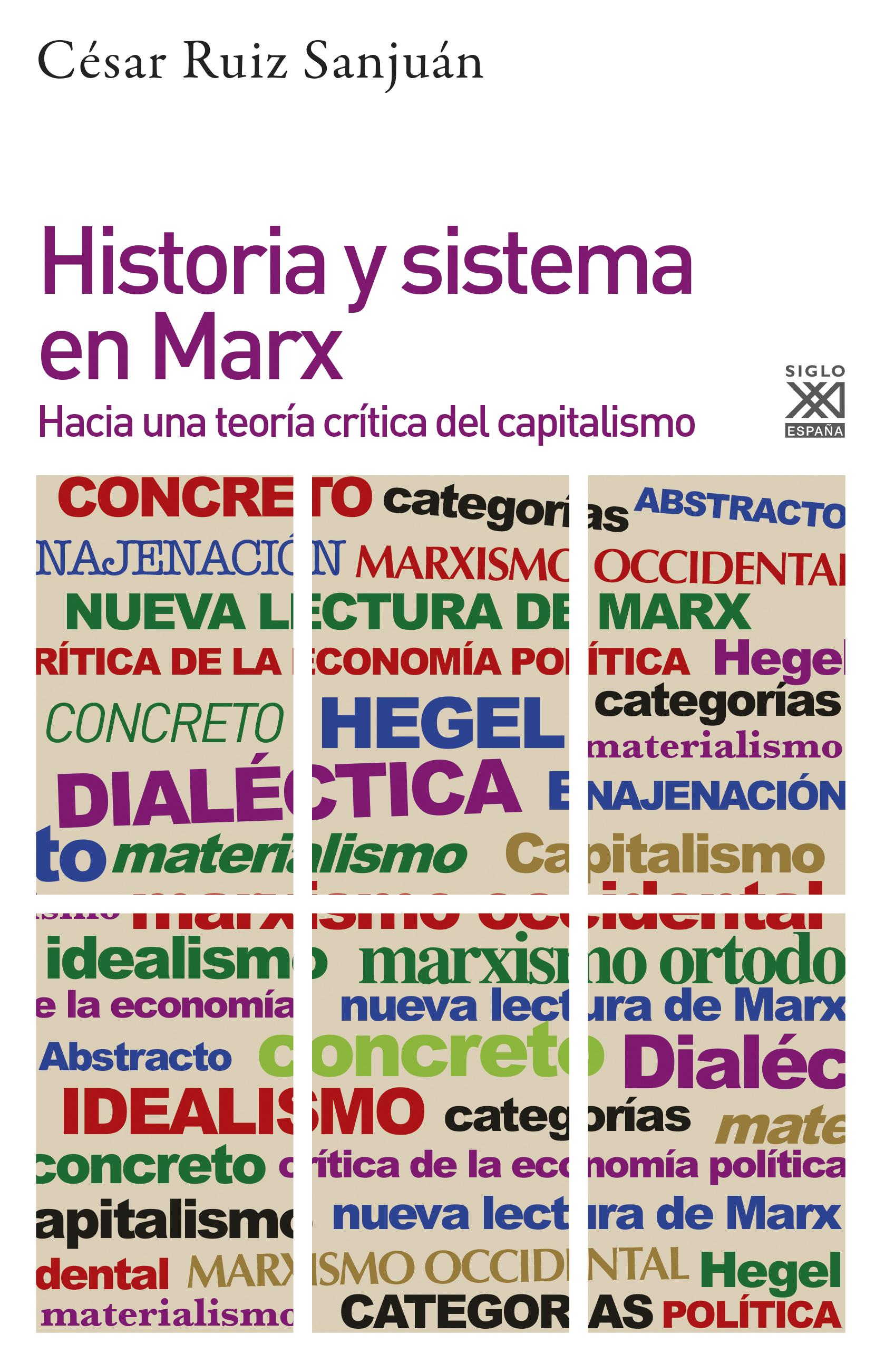 Historia y sistema en Marx: hacia una teoría crítica del capitalismo,de César Ruiz Sanjuán